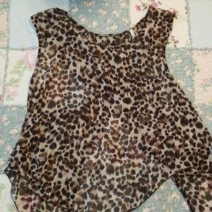 Cheetah Print Cross Back Top